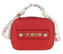 Umhängetasche Soft Grain Pu Logo Crossbody Bag Rosso rot