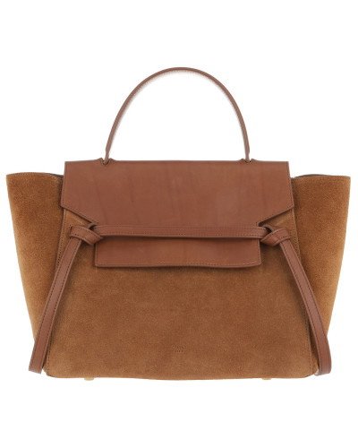 Mini Belt Bag Suede Tan Satchel