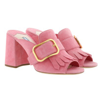 Sandals With Fringe Leather Fragola Sandalen