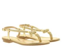 Holly Metallic Leather Sandal  Pale  Sandalen