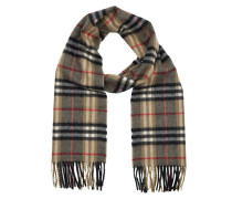Castleford Cashmere Check Scarf Camel Schal beige