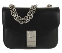 Umhängetasche C Bag Small Shiny Calfskin Black