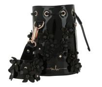 Kasper Flower Bucket Bag Lacquer Black Beuteltasche