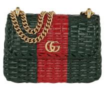 Umhängetasche Web Wicker Mini Shoulder Bag Verde/Rosso grün