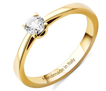 Ring 0.25ct Diamond Solitaire 14KT Yellow Gold