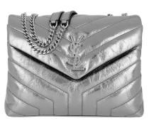 LouLou Shoulder Bag Quilted Leather Dark Platinum Tasche