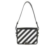 Satchel Bag Diag Crossbody Bag Black White schwarz