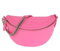 Umhängetasche Logo Bum Bag Leather Acid Pink