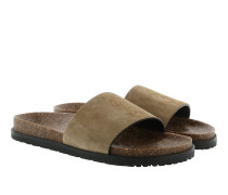 Joan 05 Slip On Leather Sandal Mist Schuhe