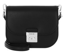 Umhängetasche Sloan Editor Small Saddle Crossbody Bag Black schwarz