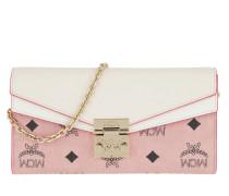 Umhängetasche Patricia Visetos Leather Block Flap Wallet Soft Pink/Shell rosa