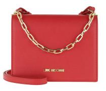 Umhängetasche Smooth Pu Chain Crossbody Bag Rosso rot