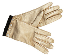 Gloves Pearl Nappa Leather Bronze Handschuhe