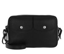 Umhängetasche Le Foulonné Crossbody Bag Leather Black schwarz