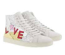 SL/06 Love High Top Sneaker White/Multi Sneakers weiß