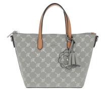 Cortina Metallic Helena Shoulder Bag Light Grey Tote