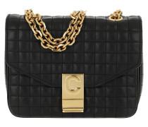 Umhängetasche C Bag Small Quilted Calfskin Black schwarz
