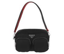 Umhängetasche Padded Nylon Camera Bag Black/Red schwarz