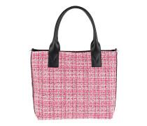 Aguglia Tweed Shopping Tote Multi Rosa Tote