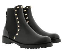 Rockstud Chelsea Boot Leather Black Schuhe