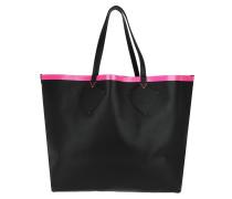 The Giant XL Reversible Shopper Black/Pink Tote