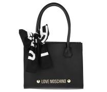 Love Scarf Shopping Bag Black Tote