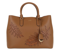 Dryden Marcy Satchel Bag Large Field Brown Tote