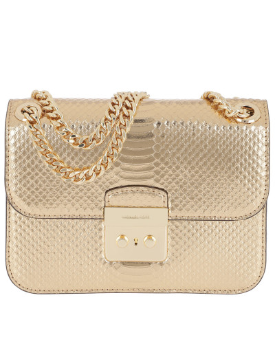 Michael Kors Damen Sloan Editor MD Chain Shoulder Bag Leather Pale Tasche Die Billigsten Mode Online yimO9h5aI