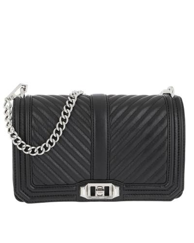 Rebecca Minkoff Damen Chevron Quilted Crossbody Bag Black Tasche Outlet Top-Qualität YdLiUPEt