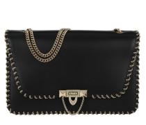 Demilune Chain Shoulder Bag Black