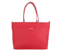 Shopping Bag Logo Red Nylon Tote