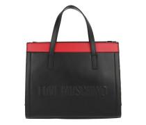 Leopard Handle Bag Nero/Rosso Tote