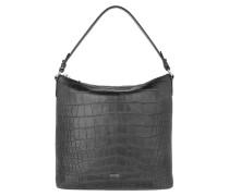 Hobo Bag Croco Soft Estia Hobo Bag Black schwarz