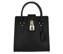 Medium Padlock Handbag Black Tote