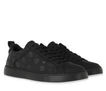 Sneakers New Flat Visetos Lace Up Black