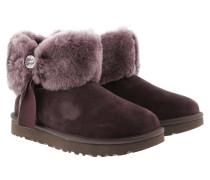 Boots Classic Boot Cinched Fur Mini Lodge lila