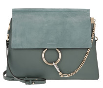 Faye Tote Bag Suede Flap Cloudy Blue