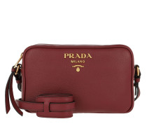 Logo Crossbody Bag Calf Leather Cerise Tasche