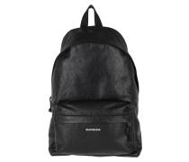 Rucksack Explorer Backpack Leather Black