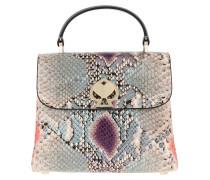Satchel Bag Romy Python Embossed Mini Top Handle Purple Multi