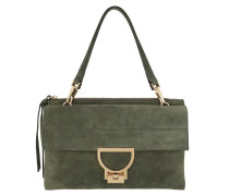 Arlettis Suede Crossbody Bag Large Caper Satchel Bag