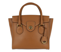 Pebbled Leather Satchel Medium Lauren Tan Tote