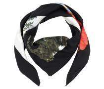 Guccify Yourself Print Silk Scarf Black Schal