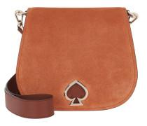 Umhängetasche Suzy Suede Large Saddle Bag Amber braun