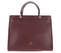 Carol Crossbody Bag Burgundy Tote