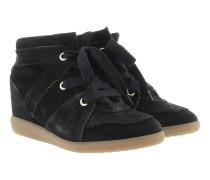 Bobby Sneaker Velvet Stainer Basket Faded Black Sneakers