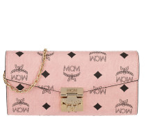 Patricia Visetos Flap Wallet Two-Fold Large Soft Pink