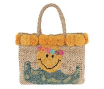 July Smiley Basket Natural Shopper