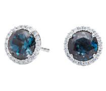Ohrringe Earrings Espressivo Topas London Blue Faceted White Gold