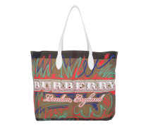 Doodle Marmaking Reversible Canvas Tote Large Trans White Shopper braun